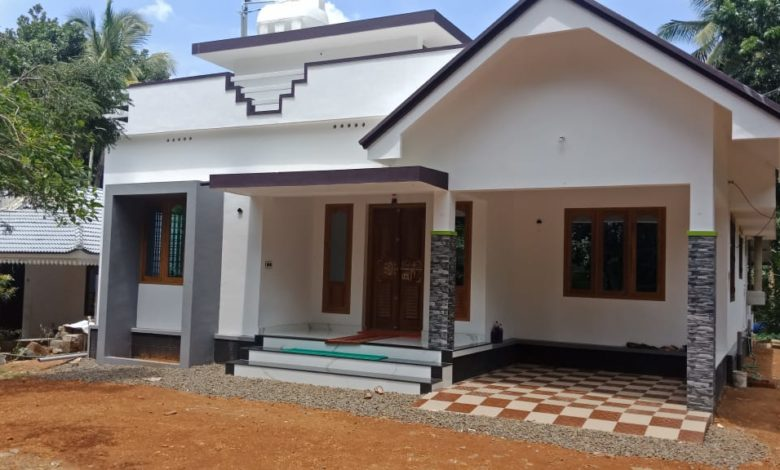 1150 Square Feet 3 Bedroom Single Floor Kerala Style House and Plan