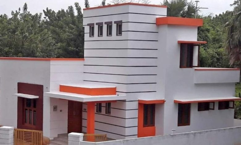 1168 Square Feet 2 Bedroom Box Type Modern Single Floor House at 4.4 Cent Land