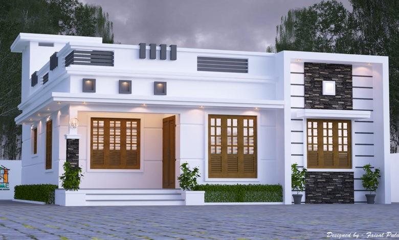 1174 Square Feet 3 Bedroom Single Floor Modern Beautiful House Design