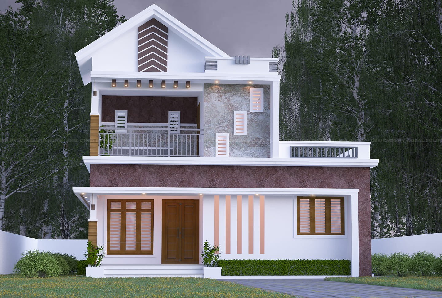 1200 Square Feet 2 Bedroom Modern Two Floor House Design ...