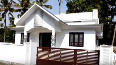 Photo of 1250 Square Feet 3 Bedroom Single Floor Kerala Style House and Plan