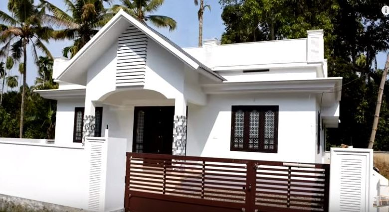 1250 Square Feet 3 Bedroom Single Floor Kerala Style House and Plan