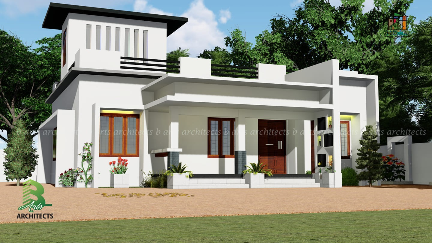 1330 Square Feet 3 Bedroom Single Floor Modern House Design