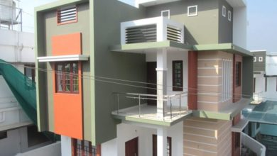 Photo of 1400 Square Feet 3 BHK Two Floor Modern Flat Roof House at 3 Cent Land
