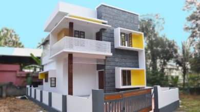 Photo of 1400 Square Feet 3 Bedroom Modern Flat Roof Two Floor House at 3 Cent Land