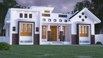 Photo of 1434 Square Feet 3 Bedroom Single Floor Fusion Style Modern House Design