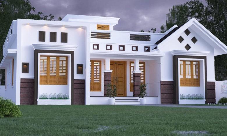 1434 Square Feet 3 Bedroom Single Floor Fusion Style Modern House Design