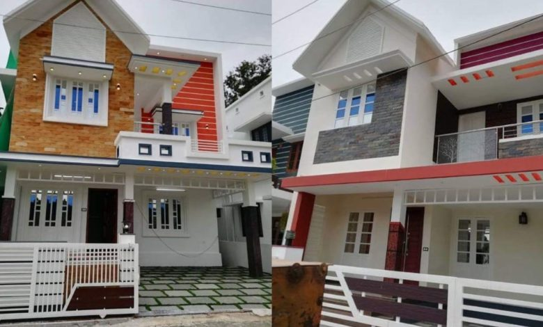 1500 Square Feet 3 Bedroom Contemporary Style Double Floor House at 3 Cent Plot