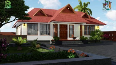 Photo of 1542 Square Feet 3 Bedroom Traditional Style Inner Courtyard House Design