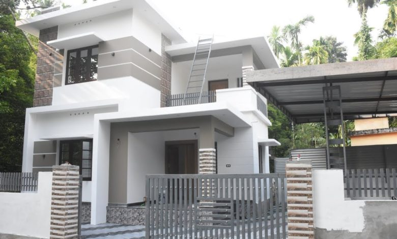 1600 Square Feet 3 Bedroom Box Style Two Floor Modern House at 5 Cent Land