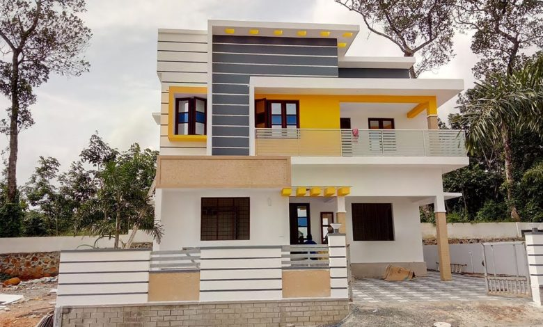 1650 Square Feet 3 Bedroom Two Floor Modern House and Interior