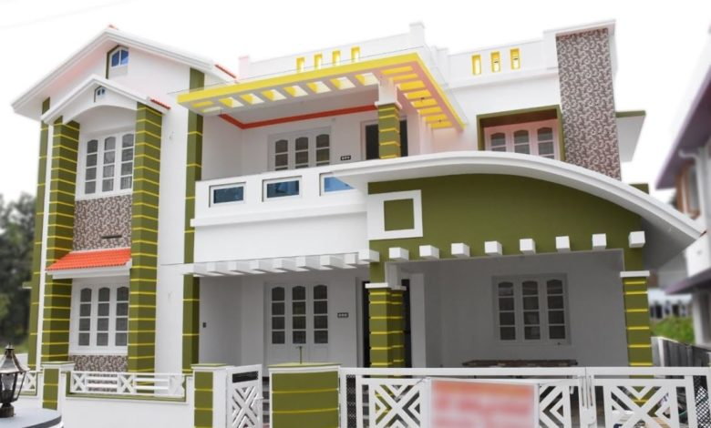 2152 Square Feet 4 Bedroom Contemporary Style Two Floor House and Plan