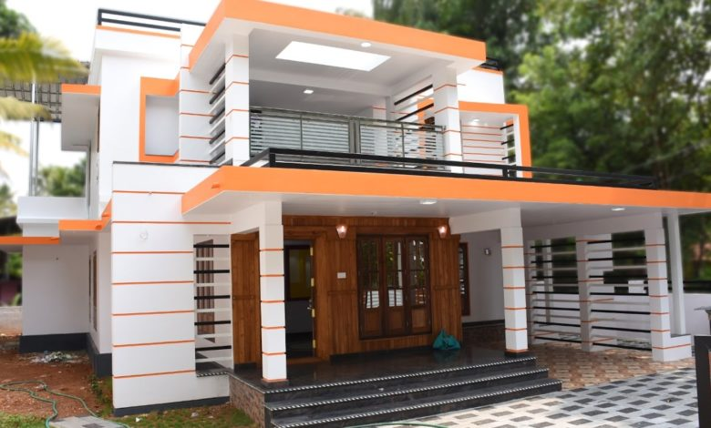2600 Square Feet 4 Bedroom Contemporary Style Home at 8.5 Cent Plot