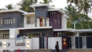 Photo of 2684 Square Feet 4 BHK Contemporary Style Modern Two Floor Home and Plan