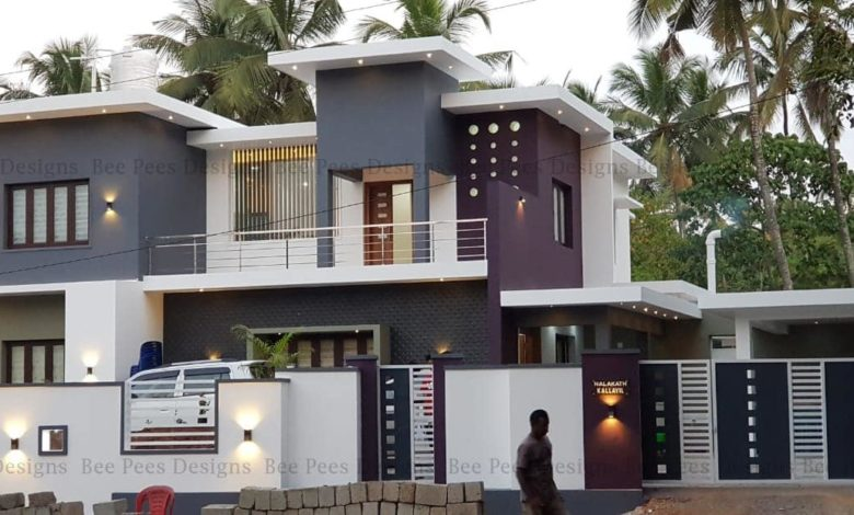 2684 Square Feet 4 BHK Contemporary Style Modern Two Floor Home and Plan