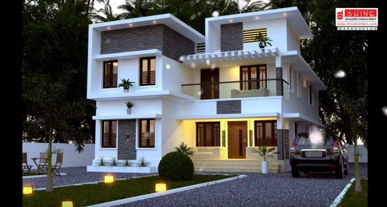 2848 Square Feet 5 Bedroom Contemporary Style Modern Two Floor Home and Plan