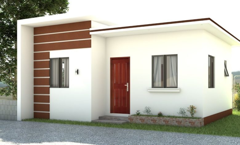 484 Square Feet 2 Bedroom Single Floor Low Budget Home and Plan