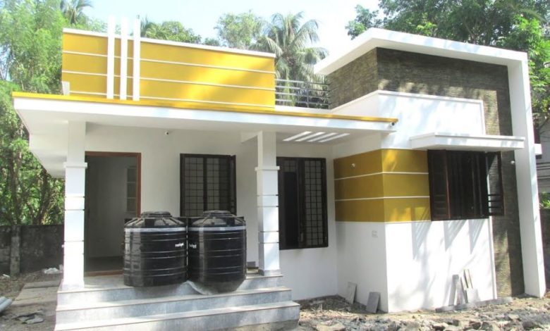 700 Square Feet 2 BHK Contemporary Style Modern House and Interior