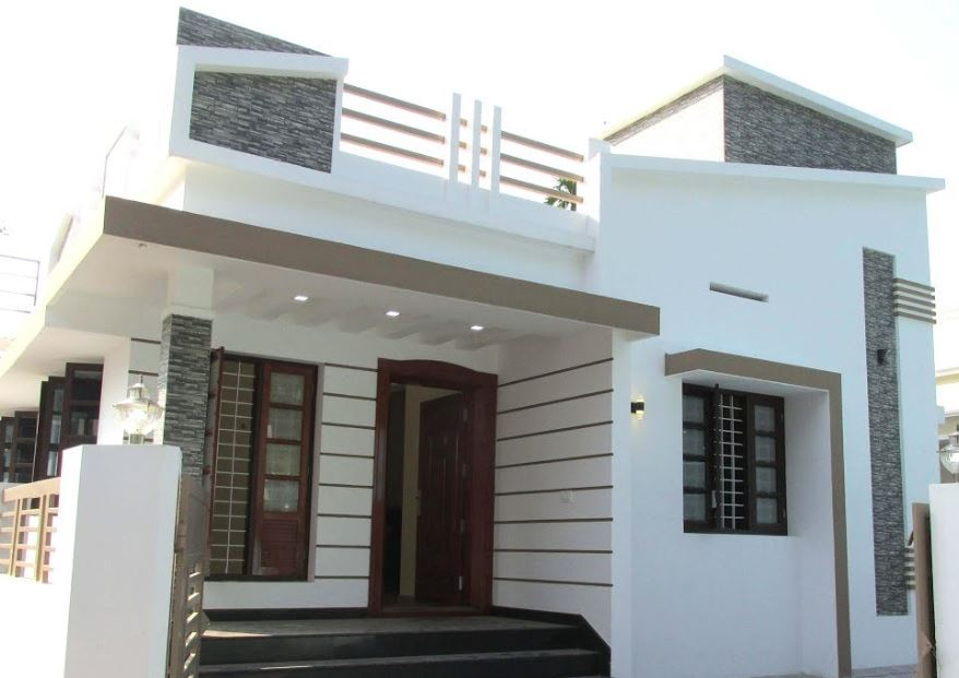 733 Square Feet 2 Bedroom Single Floor Modern and Beautiful House and Plan