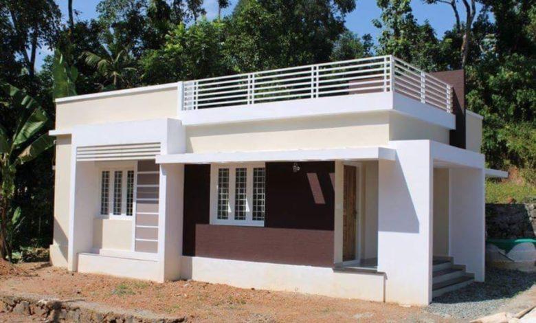 750 Square Feet 2 Bedroom Single Floor Modern House at 3.9 Cent Land