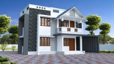 Photo of 1950 Square Feet 4 Bedroom Simple Contemporary Home Design & free plan