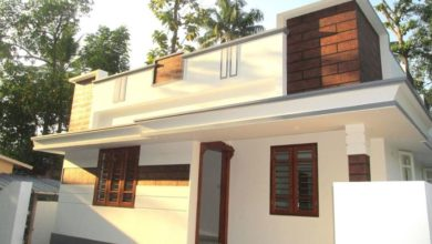 Photo of 850 Sq Ft 3 BHK Single Floor Modern House at 3.2 Cent Land