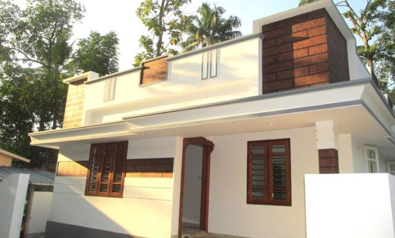 850 Sq Ft 3 BHK Single Floor Modern House at 3.2 Cent Land