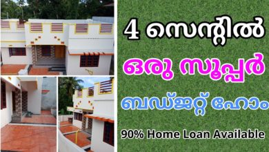 Photo of 900 Square Feet 3 Bedroom Simple Kerala Beautiful House at 4 Cent Land