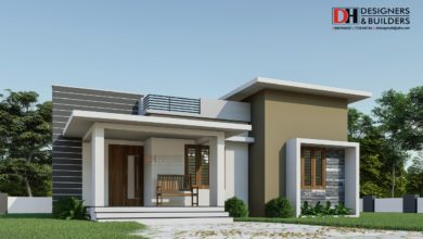 Photo of 990 Square Feet 2 Bedroom Flat Roof Modern Single Floor House Design