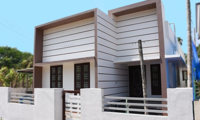 1000 Square Feet 3 Bedroom Box Style Single Floor House and Interior