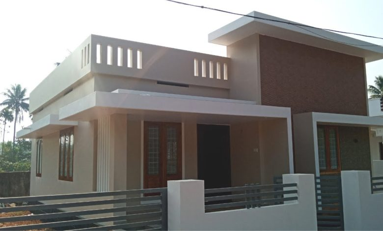 1080 Sq Ft 2BHK Contemporary Style Single Floor House at 4 Cent Land