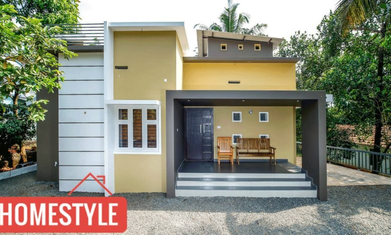 1200 Square Feet 2 Bedroom Flat Roof Box Type Single Floor House