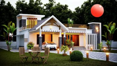 Photo of 1302 Square Feet 3BHK Contemporary Style Single Floor Modern House and Plan