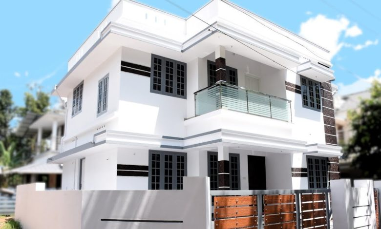 1350 Sq Ft 3BHK Simple and Elegant Two Floor House at 3.5 Cent Plot