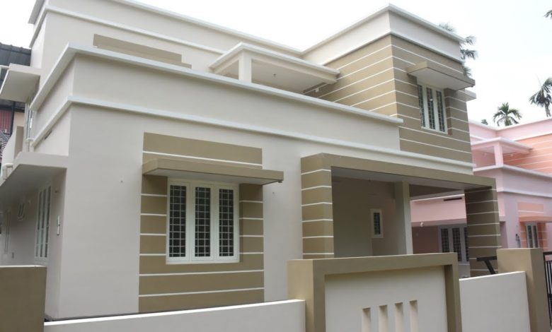 1450 Sq Ft 3BHK Modern Two Floor Box Type House at 5 Cent Land