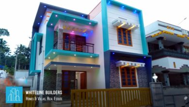 Photo of 1500 Square Feet 3 BHK Contemporary Box Style Double Floor House at 4 Cent Land