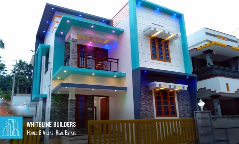 1500 Square Feet 3 BHK Contemporary Box Style Double Floor House at 4 Cent Land