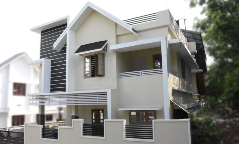 1500 Square Feet 3 Bedroom Contemporary Style Two Floor House at 3.5 Cent Land