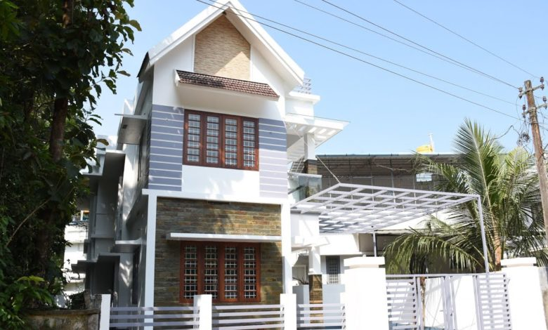 1530 Sq Ft 3BHK Modern Beautiful House at 4 Cent Land