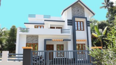 Photo of 1600 Square Feet 3 Bedroom Contemporary Style Two Floor House at 6 Cent Land