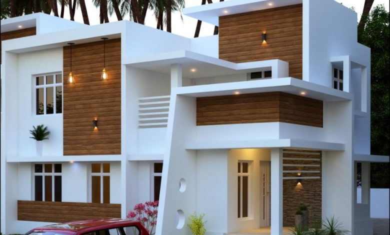 1766 Square Feet 4 Bedroom Contemporary Style Two Floor House