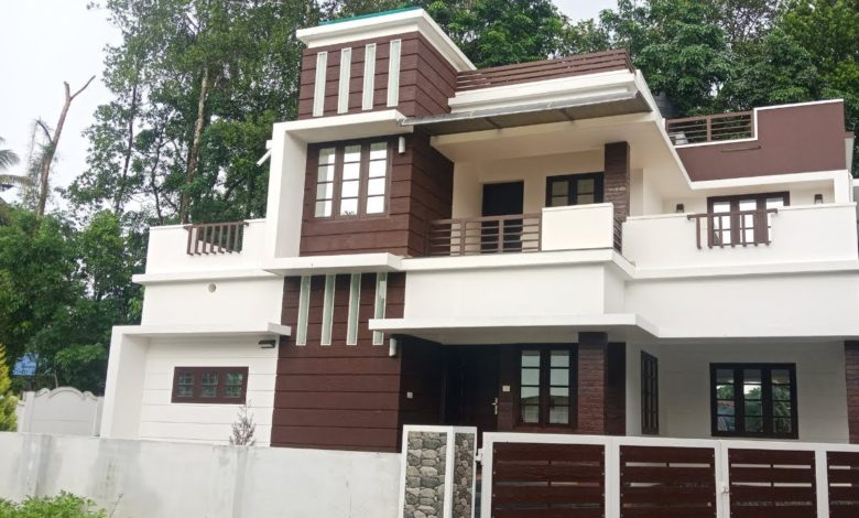 1850 Square Feet 4BHK New Modern Two Floor House at 5.5 Cent Land