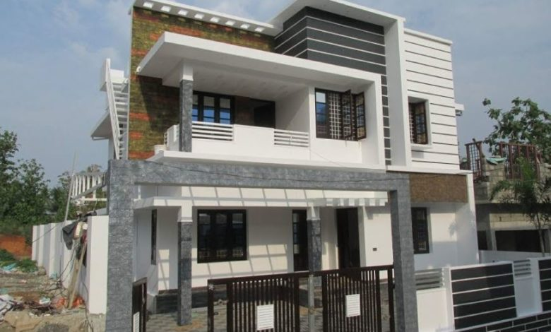2000 Square Feet 4 Bedroom Modern Two Floor House at 4 Cent Land