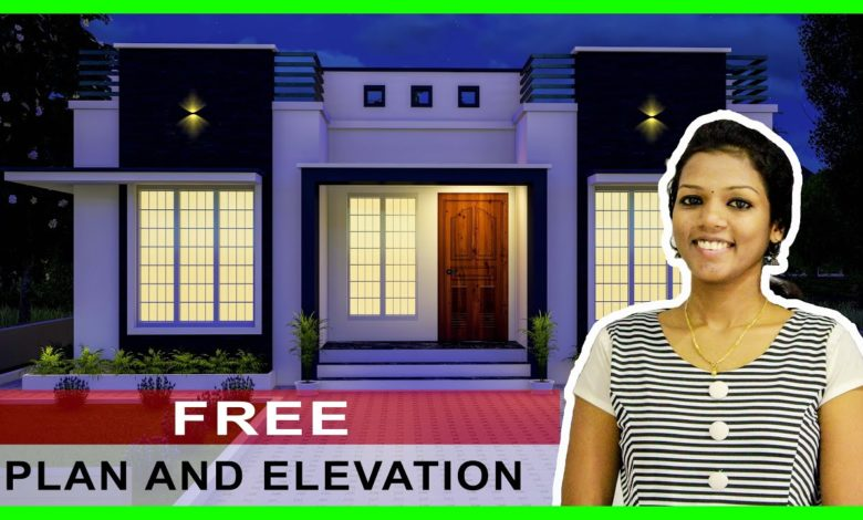 662 Square Feet 2 Bedroom Low-Budget Cute and Beautiful House Elevation and Plan