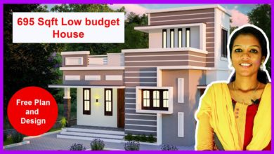 Photo of 695 Sq Ft 2 BHK Flat Roof Two Floor Home Elevation and Plan