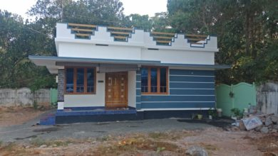 Photo of 850 Square Feet 2 Bedroom Single Floor Modern Low Budget House and Plan