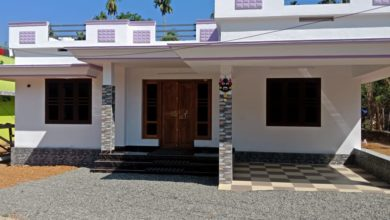 Photo of 860 Square Feet 2 Bedroom Single Floor Kerala Style House and Plan