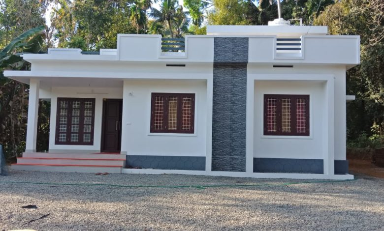 900 Square Feet 2 Bedroom Modern Beautiful Single Floor House and Plan