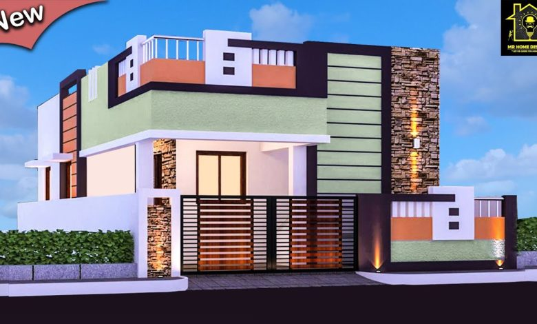 Best 30 Small and Single Floor Modern beautiful House Front Elevation Designs 780x470 - View Front Design Of House In Small Budget Single Floor  Background