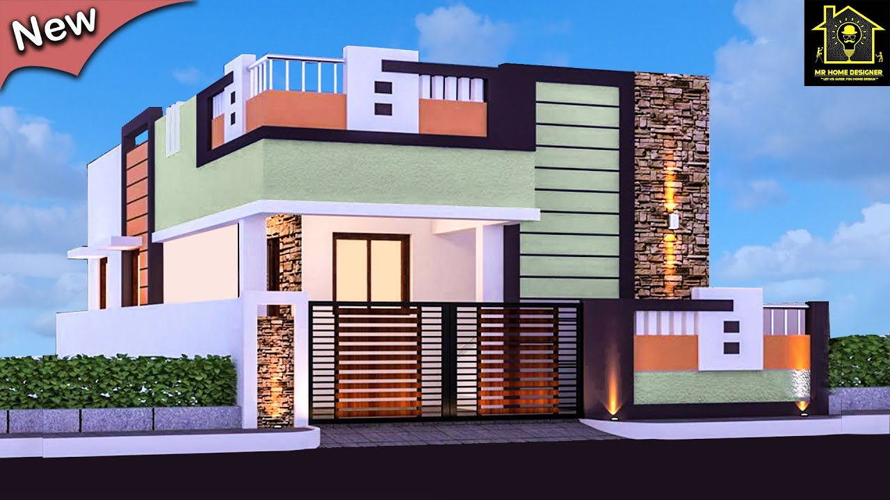 Best 30 Small And Single Floor Modern Beautiful House Front Elevation Designs Home Pictures,Label M Designers Online